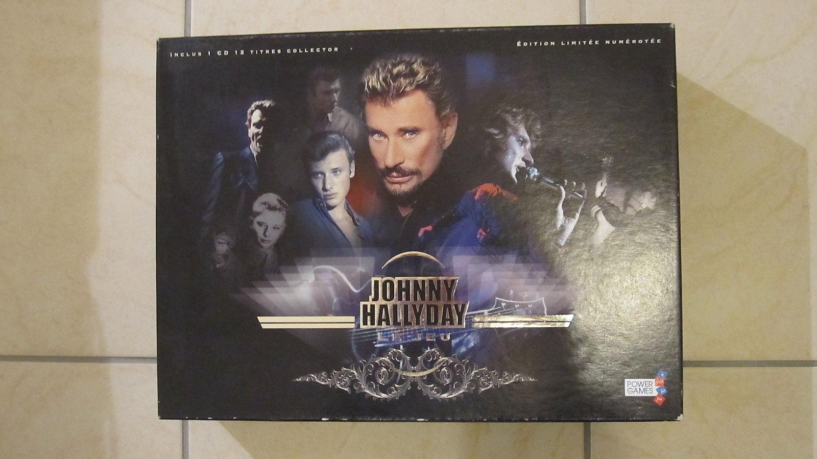 Johnny HALLYDAY Le Jeu Power Games Edition limitée numérougeée Complet avec CD TBE