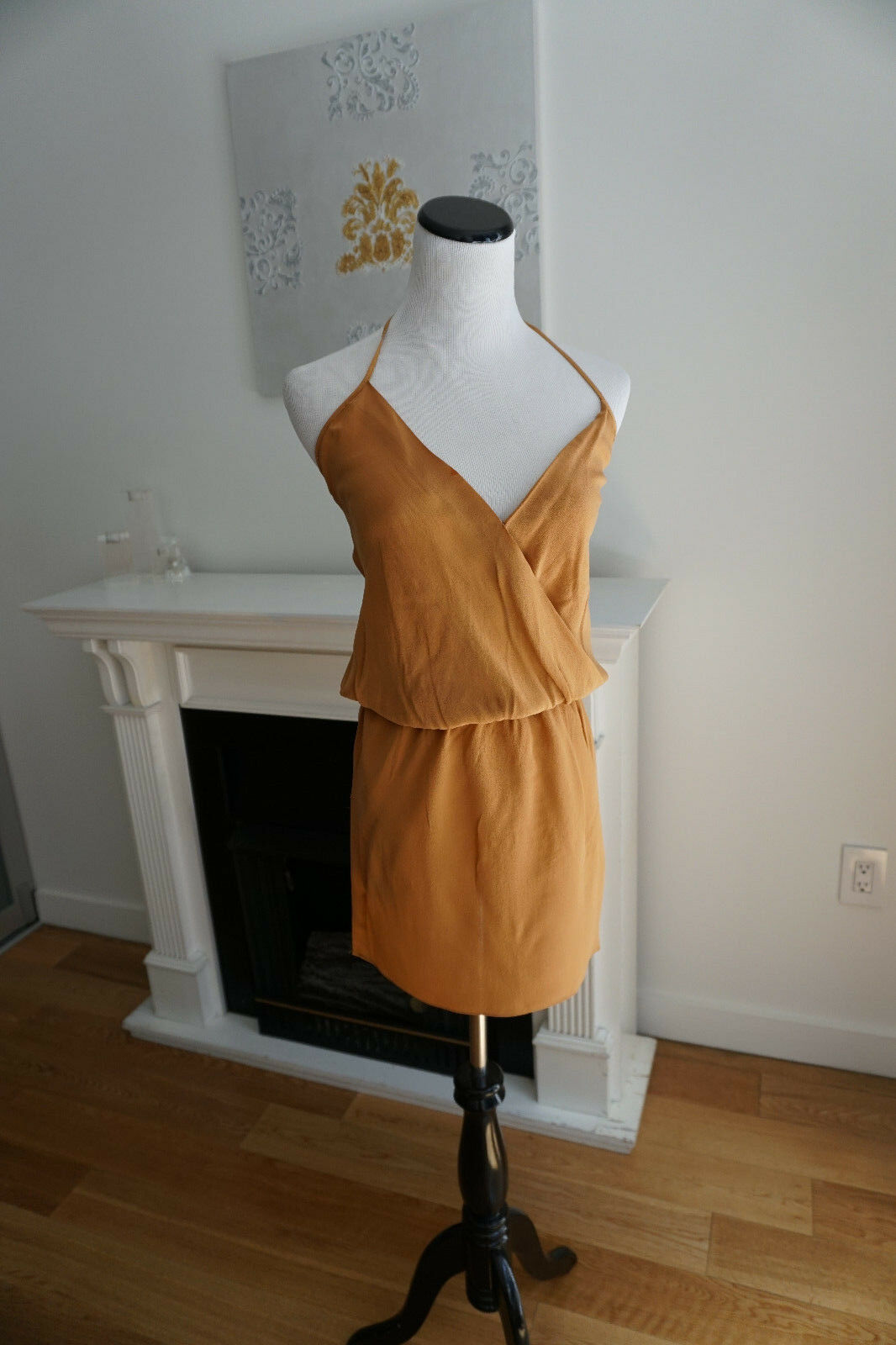 Haute Hippie Halter Sexy Mini Dress 100% Silk New Größe XS