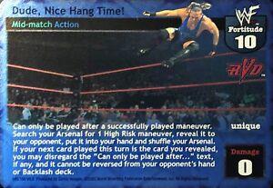 WWE-Raw-Deal-CCG-Summer-Slam-6-0-Dude-Nice-Hang-Time-FOIL-RVD-Ultra-Rare