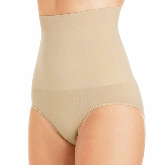 063255b1ecd Womens Seam High Waist Slimming Control Brief Tummy Tuck Bum Lift Shapewear  Nude Medium