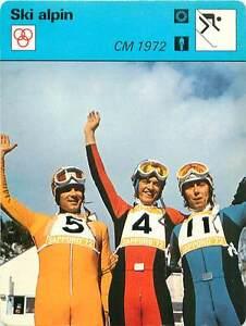 FICHE-CARD-CM-1972-H-Messner-B-Russi-R-Collombin-11-Alpine-skiing-SKI-ALPIN-70s