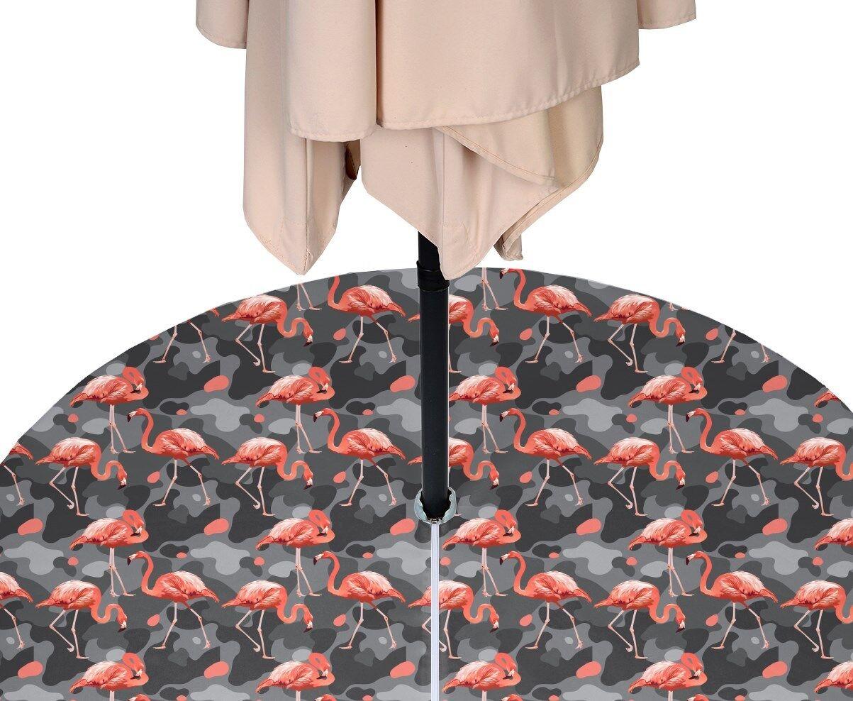 Abstract Flamingos Outdoor Waterproof Tablecloths w zipper & Umbrella Hole