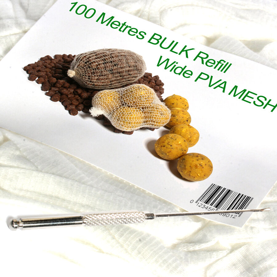 PVA  mesh 100 metre refill & baiting needle  fashion