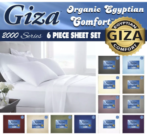 Giza As Seen On Tv 2000 Series 6 Piece Sheet Set *FINAL INVENTORY CLOSEOUT*