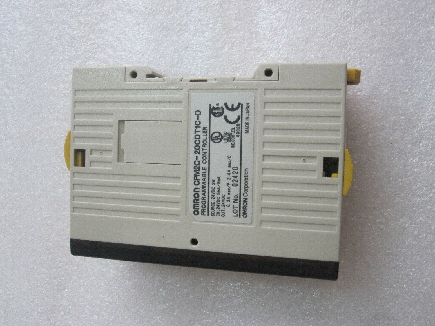 Used OMRON PLC CPM2C-20CDT1C-D 24VDC Tested