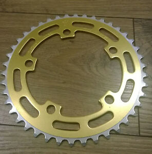 Sugino-GOLD-BMX-40T-NOS-Chainring-Old-School-BMX-MADE-IN-JAPAN-1980-s