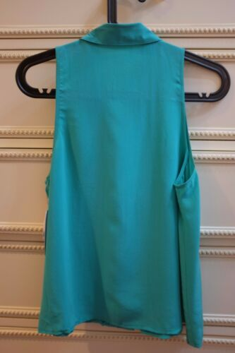 Equipment MINA SILK TOP//BLOUSE SEA GREEN Sz XSSML
