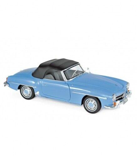 Mercedes Benz 190sl 1955 azul azul azul 1 18 norev 57344b