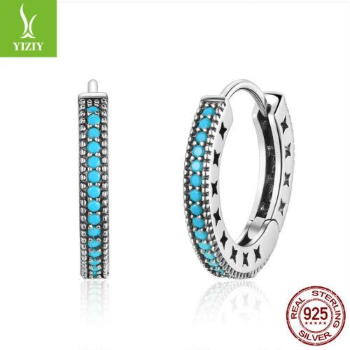 Nouveau 925 Sterling Silver Shine oreille HOOP Clip Boucles D/'oreilles Charme Femmes Party Jewelry