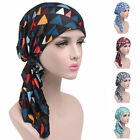 Women Stretch Muslim Hair Loss Head Scarf Head Wrap Turban Cancer Hat Chemo Cap