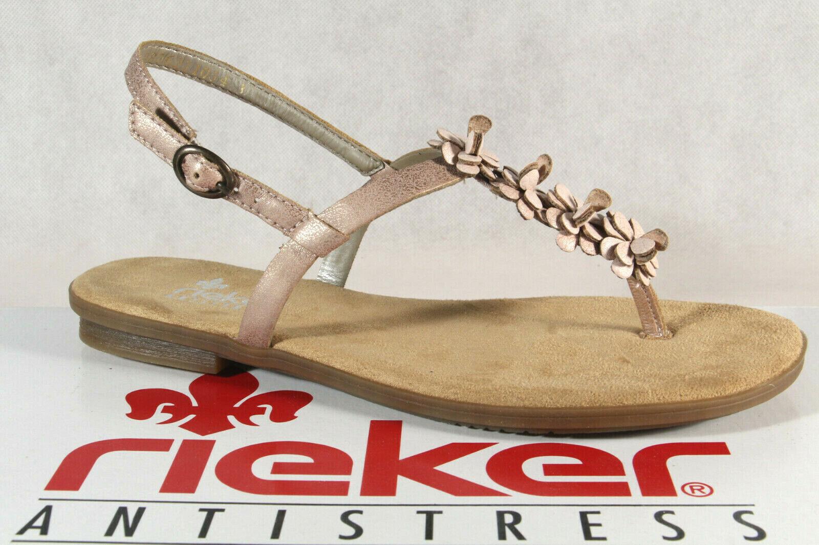 Rieker Women's Thong Sandal Zehentrennersandale Sandal Pink 64281 New