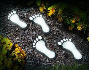 Outdoor-Solar-Foot-Print-Light-Set-of-4-Decorative-Lighting-To-Pathways