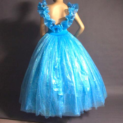 Cenerentola Vestito Carnevale Dress up Princess Cinderella Girl Costumes 567008
