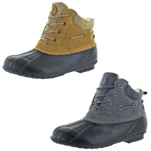 Revelstoke Mens Freeport Tan Duck Toe Snow Boots Shoes 13 Medium (D) BHFO 4443