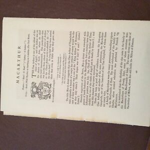 a4b-ephemera-article-clan-tartan-2-pages-macarthur