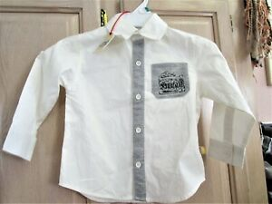Dress Shirt Boys Children Kids Tie Solid Button Down Long Sleeve All Size 2T 3T