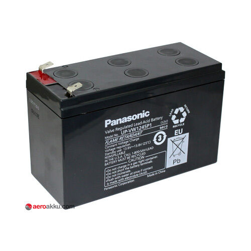 Panasonic UPV1245 12V 9Ah effektiv hochstrom Bleiakku AGM ECHOLOOT USV RBC