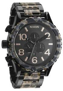 eaf78a0c51d Nixon 51-30 Chronograph All Black Leopard A0831153 Mens Watch 5130 ...
