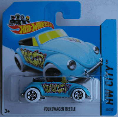 "Hot Wheels - VW Käfer Cabrio hellblau ""Graffiti Rides"" Neu/OVP"