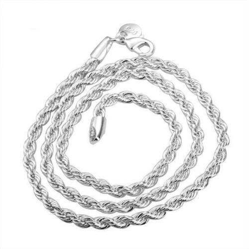 pulsera tanques cadena 925 Sterling-plata PL mosquetón 012+013 Spiralkette