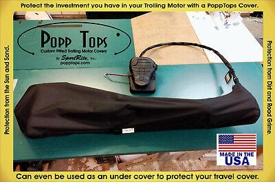 "Minn Kota Trolling Motor Cover  By PoppTops Fits TRAXXIS//ENDURA w// 36/"" s BLACK"
