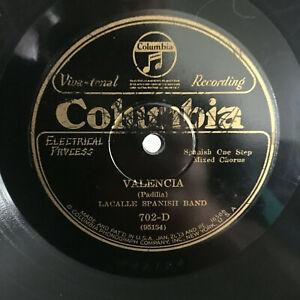 78-rpm-Record-Lacalle-Spanish-Band-VALENCIA-PLUS-ULTRA-COLUMBIA-Via-Tonal