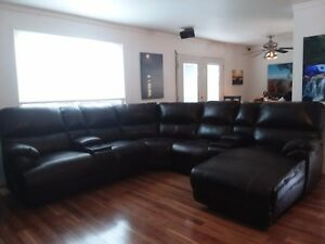 Bonded Leather Sectional Sofa With 3