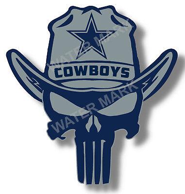 Dallas Cowboys Punisher Nfl Sticker Decal Vinyl Truck Car