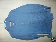 ERMENEGILDO ZEGNA  Blue Point Collar Dress Shirt 16 1/2