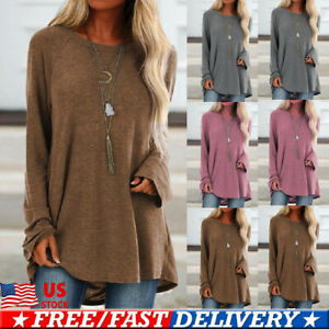 Women-Ladies-Long-Sleeve-Pullover-T-shirt-Loose-Baggy-Casual-Tunic-Tops-Jumper