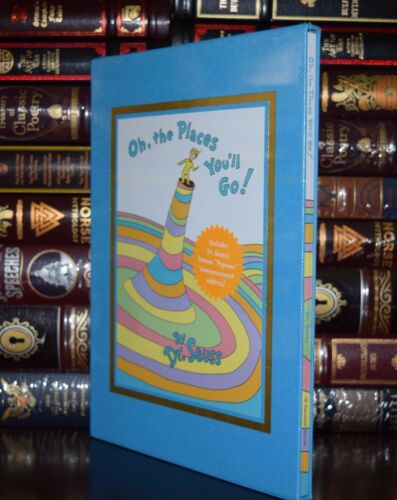 Oh Seuss Sealed Deluxe Slipcase Gift Hardcover Ed the Places You/'ll Go by Dr