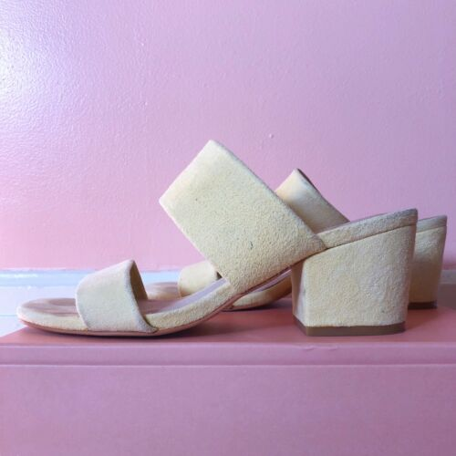 Sol Sana Butter Yellow Suede Mules - image 1