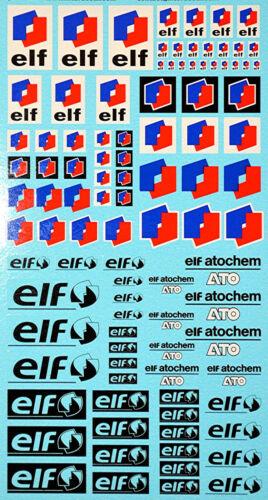 195 x 100 mm ELF Sponsoren Decal 10-2 1:18 Decal Abziehbilder