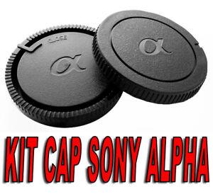 KIT-BODY-CAP-REAR-LENS-CAMERA-SONY-ALPHA-A-MINOLTA-DSLR-REFLEX-AF-A68-A37-A57