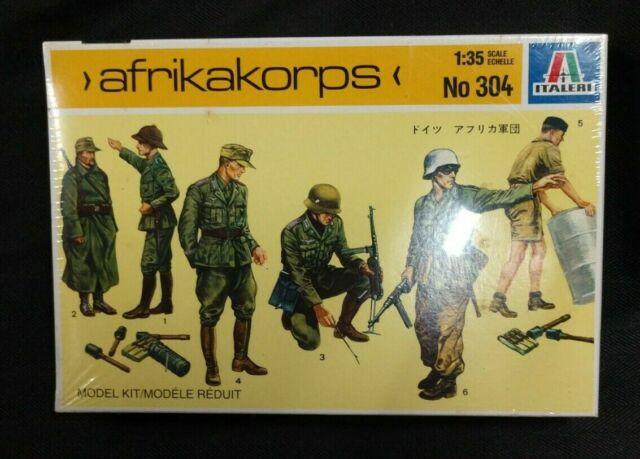 Italeri 1/35 Scale WWII Military German Army Afrikakorps 7 Figures Model  Kit 304