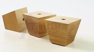 4x-SOLID-WOOD-LEGS-REPLACEMENT-FURNITURE-FEET-CABINETS-DRAWERS-WARDROBES-BEDS