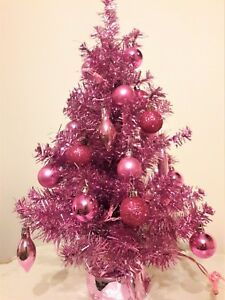 Image Is Loading 2 Ft Pink Pre Lit Decorated Christmas Tree