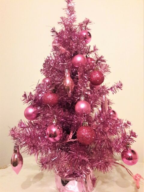 best sneakers 61334 04996 Holiday Essentials 3 Foot Prelit Pink Artificial Christmas Tree with White