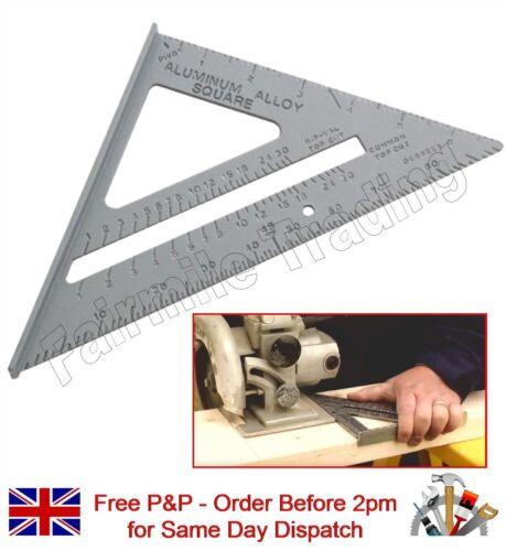 "6/"" en alliage d/'aluminium roofing chevrons vitesse carré triangle angle guide menuiserie toit"