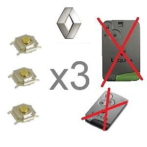 lot 3 switch bouton carte d marrage espace 4 laguna 2 vel satis clio 3 bt06 ebay. Black Bedroom Furniture Sets. Home Design Ideas