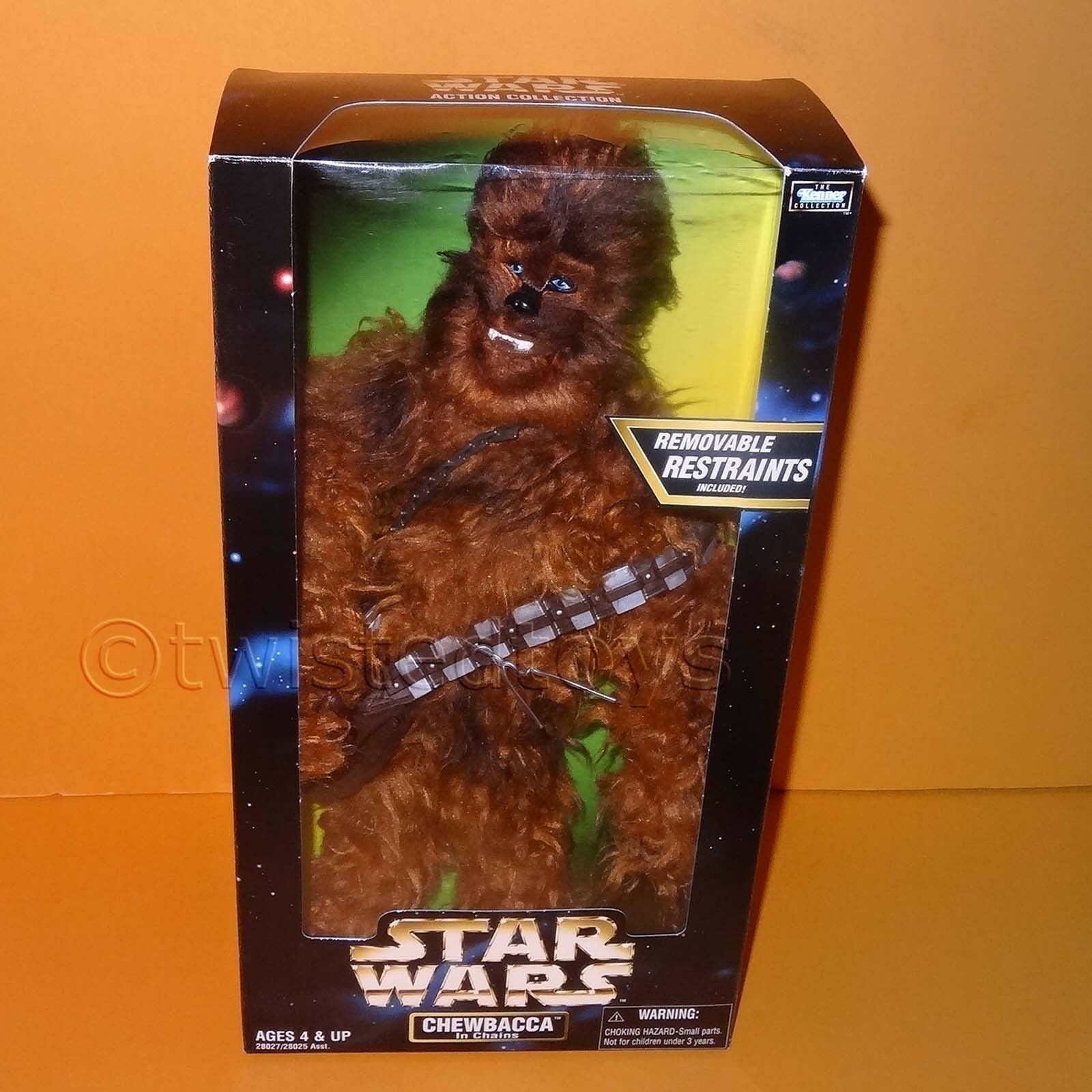 1998 HASBRO STAR WARS THE KENNER COLLECTION CHEWBACCA IN CHAINS 12  FIGURE BOXED