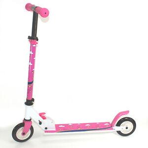Maedchen-Scooter-3-10-Jahre-ALU-Klapproller-Kinder-Roller-Tretroller-PINK-2349