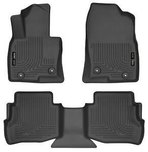 Husky-Liners-WeatherBeater-Floor-Mats-3pc-95611-Mazda-CX-9-16-18-Black