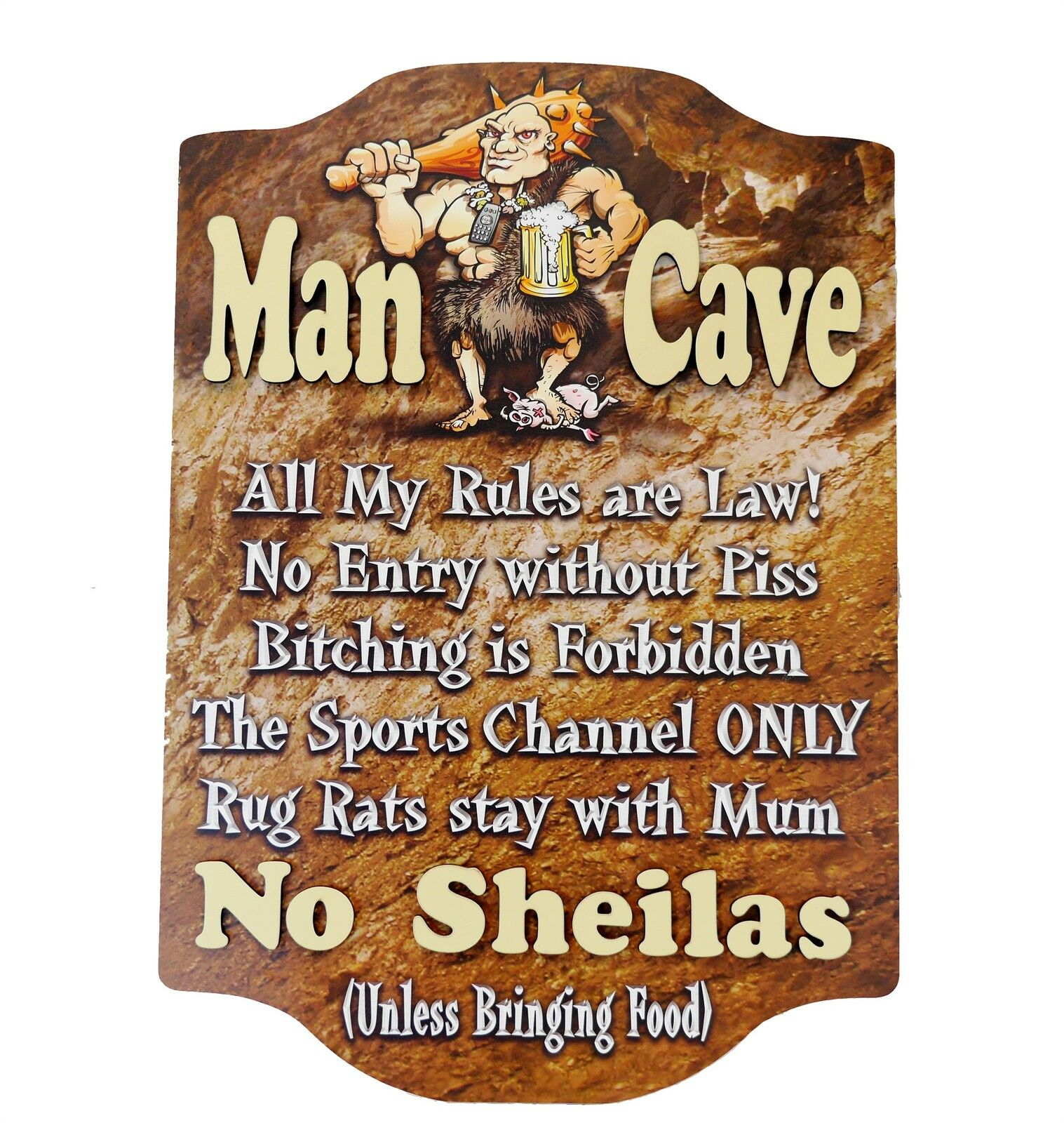 man cave rules wooden wall sign 3d raised letters pool. Black Bedroom Furniture Sets. Home Design Ideas