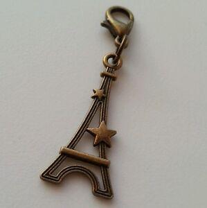 Eiffel-Tower-Paris-France-Travel-Clip-on-Bead-Dangle-for-Chain-Charm-Bracelet