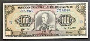 1990-Ecuador-100-Sucres-Banknote-UNC