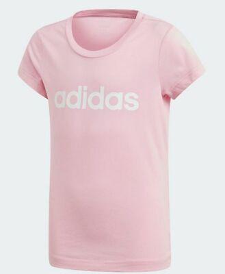 Adidas Essentials Linear T Shirt Mädchen Sport Trainingsshirt Rosa Neu | eBay
