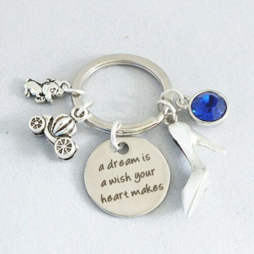 """/""""A dream is a wish your heart makes/"""" Cinderella inspired keepsake Alloy charms"""