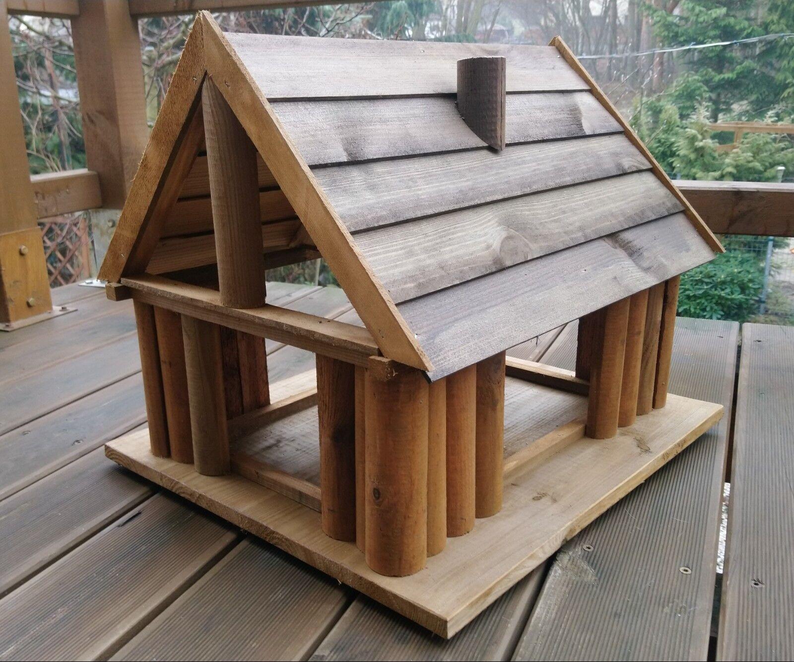 VOGELHAUS aus HOLZ Vogelhäuschen Vogelhäuser Vogelfutterhaus  XXXL NEUES MODELL | Ausgezeichnetes Preis  | Ausgewählte Materialien  | Hohe Sicherheit