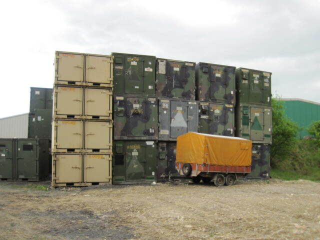 Shelter Container Special US Army Lagercontainer Materialcontainer Shop Van